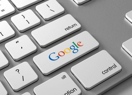 Google on keyboard