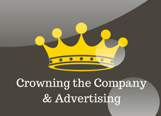 crowning the company and advertising