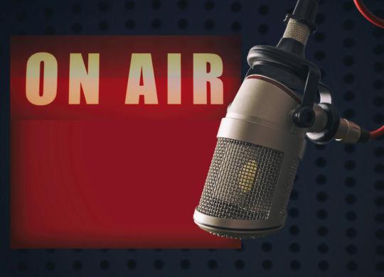speaking on radio show about internet marketing