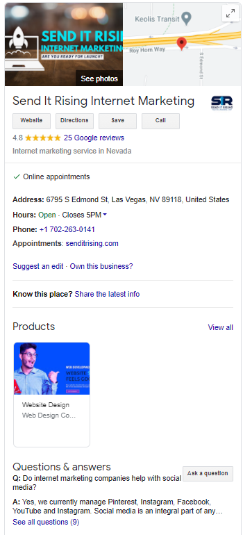 show up on google